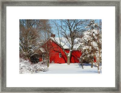 The Old Red House Framed Print by Heather Allen