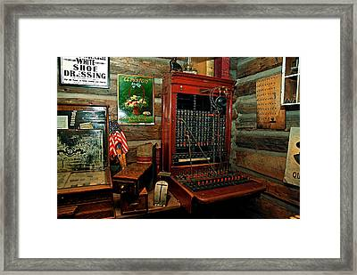 The Old Switchboard Framed Print