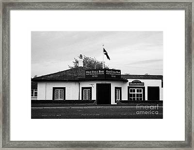 The Old Toll Bar First And Last House In Scotland On The England Border Framed Print by Joe Fox