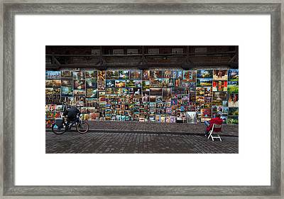 The Open Air Art Gallery Framed Print by Panoramic Images