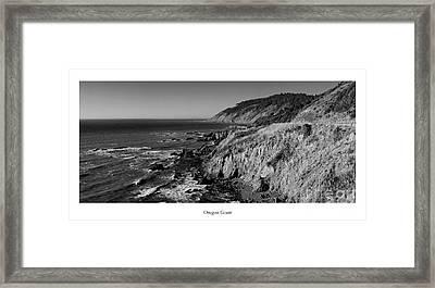 The Oregon Coast Framed Print