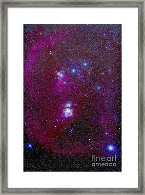 The Orion Nebula, Belt Of Orion, Sword Framed Print