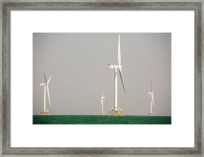 The Ormonde Offshore Wind Farm Framed Print