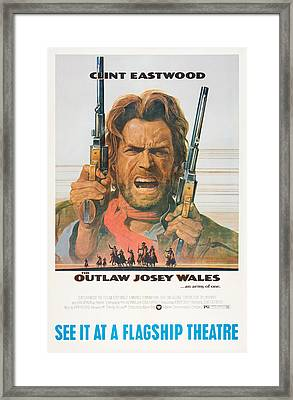 The Outlaw Josey Wales, Us Poster Framed Print