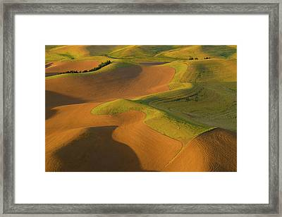 The Palouse From Above Framed Print by Latah Trail Foundation