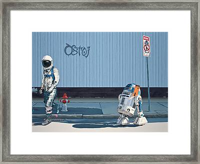 Framed Print featuring the painting The Parking Ticket by Scott Listfield
