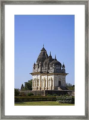 The Parvati Temple At Khajuraho In India Framed Print by Robert Preston