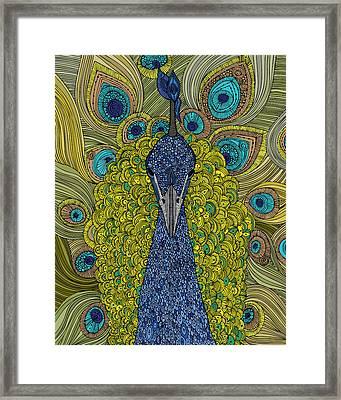 The Peacock Framed Print by Valentina Ramos