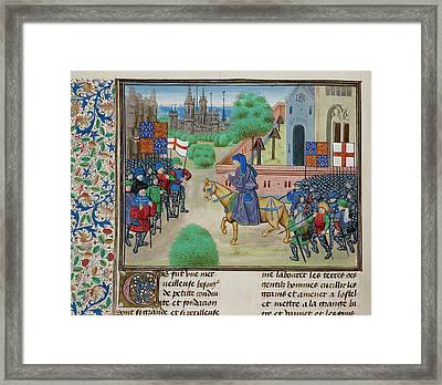 The Peasants' Revolt In England In 1381 Framed Print by British Library