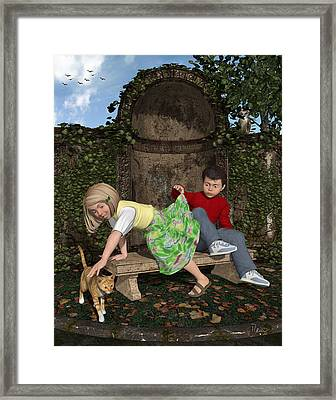 The Peek Framed Print
