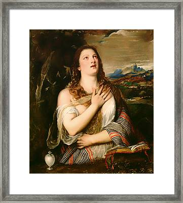 The Penitent Magdalene Framed Print by Mountain Dreams