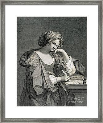 The Persian Sibyl, Ancient Prophetess Framed Print