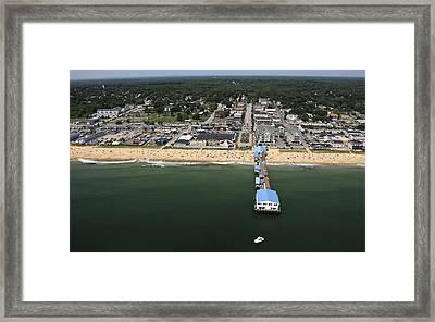The Pier At Old Orchard Beach, Maine Framed Print by Dave Cleaveland