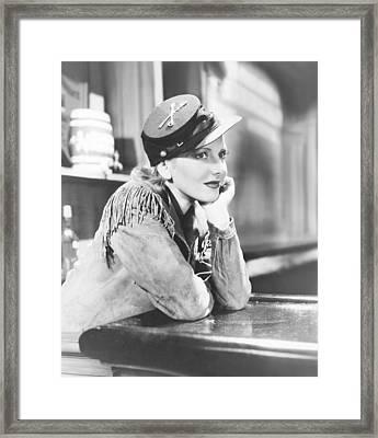 The Plainsman, Jean Arthur, 1936 Framed Print by Everett