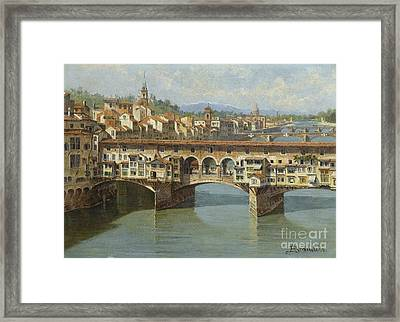 The Ponte Vecchio Florence Framed Print