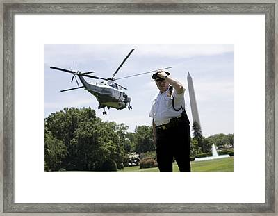 Marine One Framed Print by JP Tripp