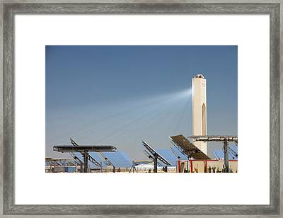 The Ps20 Solar Thermal Tower Framed Print