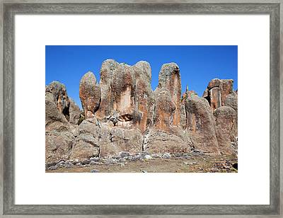 The Rafu Lava Flow With Its Bizarre Framed Print by Martin Zwick