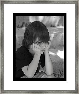 The Real Thinker Framed Print