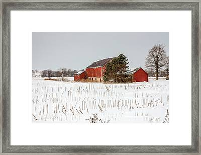 The Red Barn Framed Print by Nick Mares