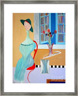 Framed Print featuring the painting The Red Chair by Bill OConnor