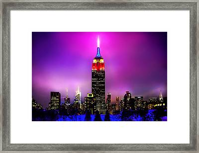 The Red Empire Framed Print by Az Jackson