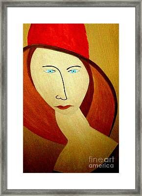 The Red Hat Framed Print by Bill OConnor