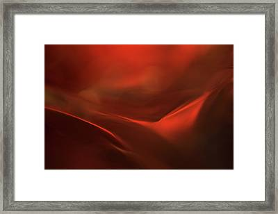 The Red Valley Framed Print by Heidi Westum