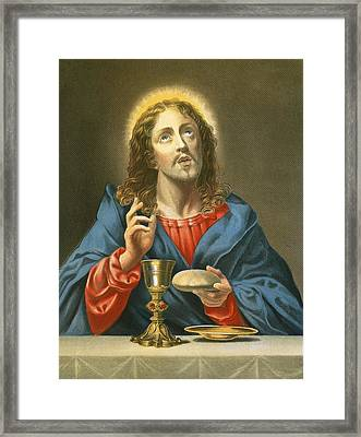 The Redeemer Framed Print by Carlo Dolci