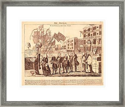 The Repeal, Or The Funeral Of Miss Ame=stamp Framed Print by English School