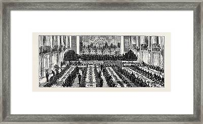 The Return Of The Soldiers And Sailors From Egypt Banquet Framed Print