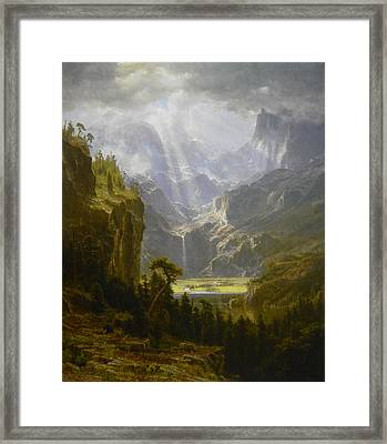 The Rocky Mountains Lander's Peak Framed Print by Celestial Images