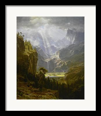 Bierstadt Drawings Framed Prints