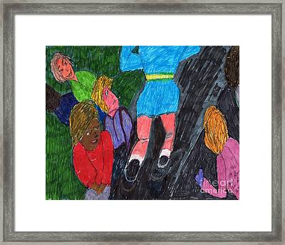 The Runner Framed Print by Elinor Rakowski