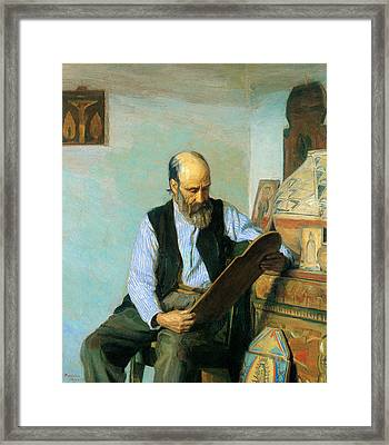 The Santero Framed Print