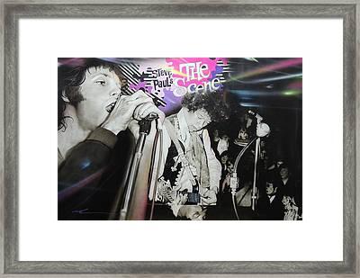 Jimi Hendrix And Jim Morrison - ' The Scene ' Framed Print by Christian Chapman Art