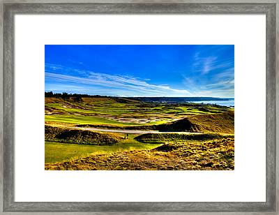 The Scenic Chambers Bay Golf Course Iv - Location Of The 2015 U.s. Open Tournament Framed Print