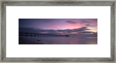 The Scripps Pier Framed Print by Peter Tellone