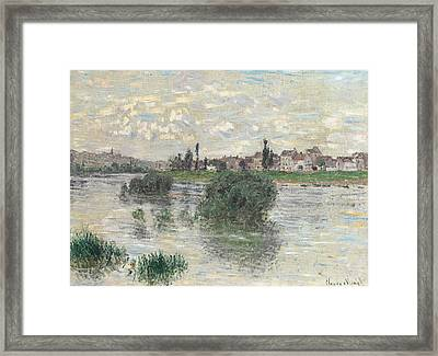 The Seine At Lavacourt Framed Print by Claude Monet