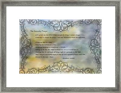 The Serenity Prayer 2 Framed Print