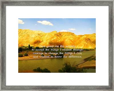 The Serenity Prayer Framed Print