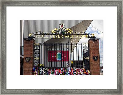 The Shankly Gates Framed Print by Paul Madden