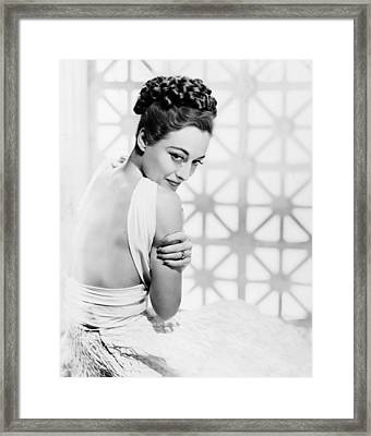 The Shining Hour, Joan Crawford Framed Print