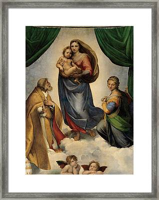 The Sistine Madonna Framed Print by Raphael