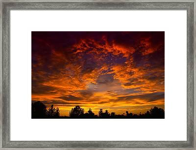 The Sky Is On Fire  Framed Print