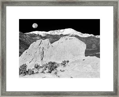 The Sleeping Indian And Pikes Peak  Framed Print