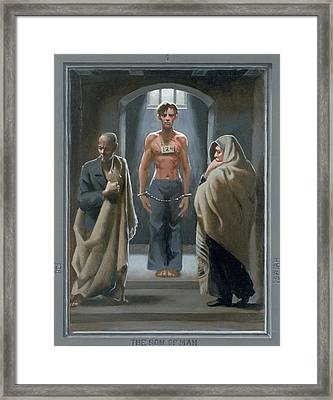 1. The Son Of Man With Job And Isaiah / From The Passion Of Christ - A Gay Vision Framed Print by Douglas Blanchard