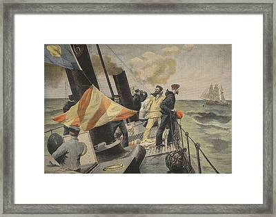 The Spanish American War, Illustration Framed Print