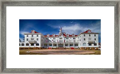 The Stanley Hotel Panorama Framed Print