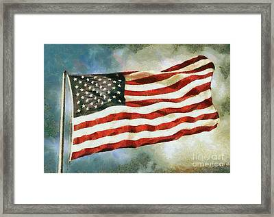The Stars And Stripes Framed Print by Nishanth Gopinathan